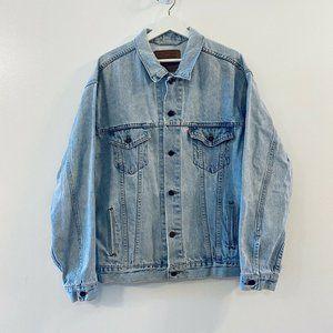 Vintage Levi's Denim Jean Trucker Jacket Button XL